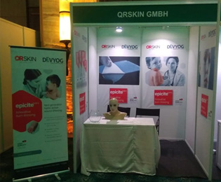 QRSKIN GmbH and DEVYOG partner at the International Society for Burn Injuries