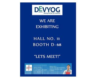 DEVYOG Welcomes you to our Booth at  The Medical Fair 2019 on 21-23rd Feb.  New Delhi